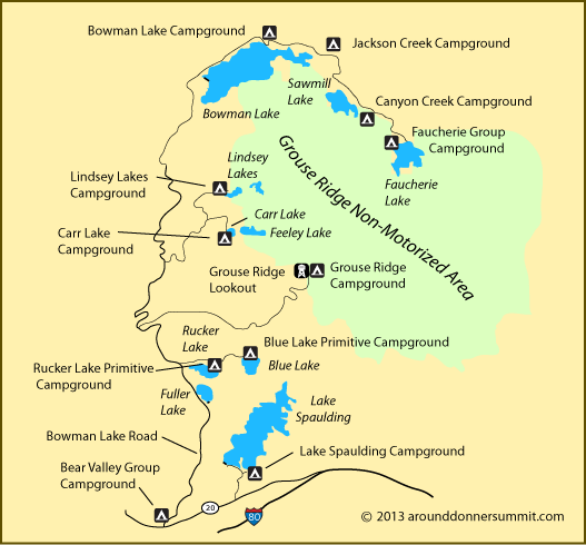 Map showing the location of Blue Lake, CA