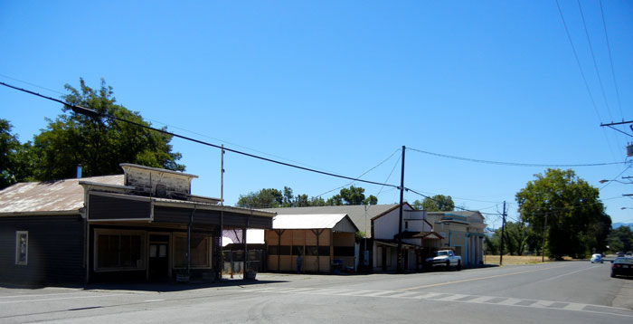 Scene of downtown Covelo