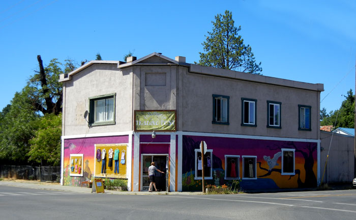 The trading post in downtown Covelo, California