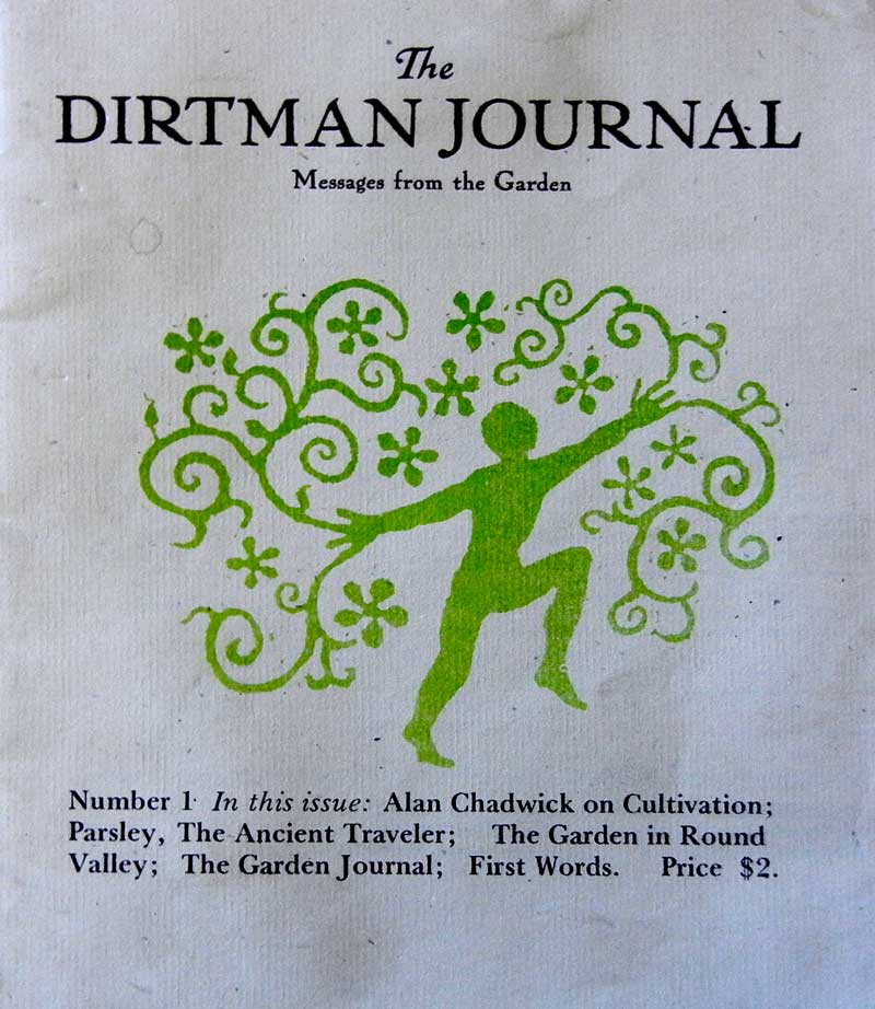Dirtman Journal, page 1