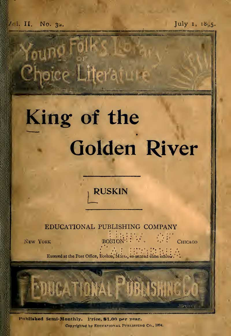 King of the Golden River, Title Page