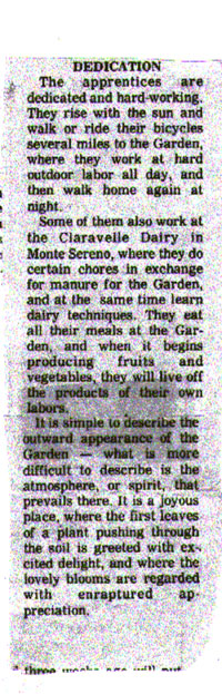 Betty Peck and the Saratoga Community Garden Part 2