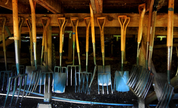 Farm Tool Box Organizer : The alan chadwick garden at u c santa cruz today
