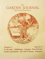 Garden Journal 2, a publication of the Alan Chadwick project in Covelo
