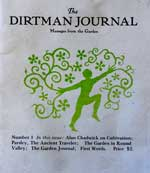 Dirtman Journal Cover, the first publication of the Alan Chadwick garden in Covelo