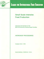 Cover, Small Scale Food Production
